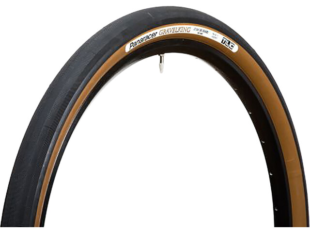 "Panaracer GravelKing Slick Folding Tyre 27.5x1.75"" TLC, negro/marrón"